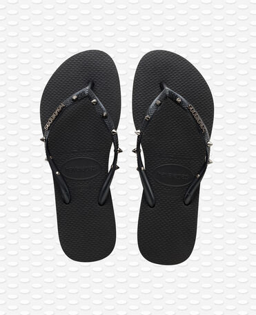 Havaianas Slim Hardware - Black / Grey / Silver - Flip Flops - Women