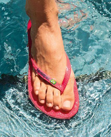 Havaianas Slim Brasil Logo - Red Flip flops Women