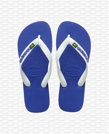 Havaianas Brasil Logo - Marine blue - Flip flops