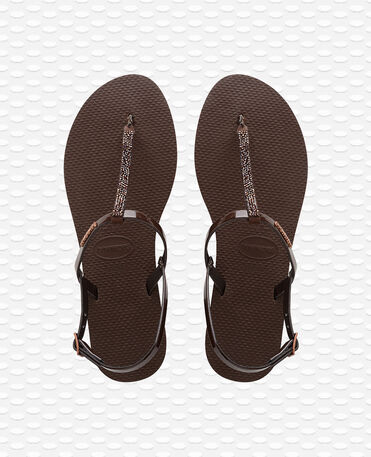 Havaianas You Riviera Crystal - Dark Brown / Dark Brown - Flip Flops - Women