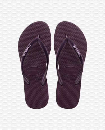 Havaianas Slim Velvet - Flip Flops - Aubergine - Damen