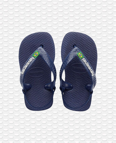Havaianas Baby Brasil Logo Ii - flip-flops - NAVY BLUE/CITRUS YELLOW - bebe