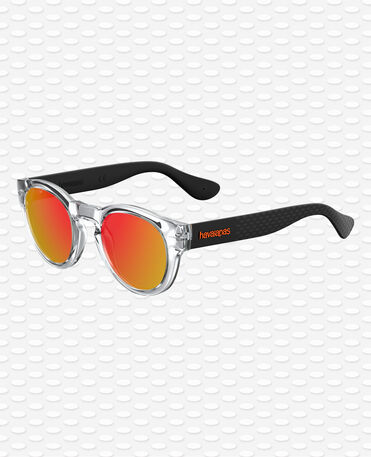 Havaianas Eyewear Trancoso Mirrored - Black Neon Orange Sunglasses