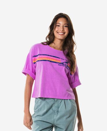Havaianas T-Shirt Cropped Stripes 62 Vintage - NEON PURPLE