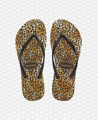 Havaianas Slim Leopard - flip-flops - BLACK/BLACK - mujer