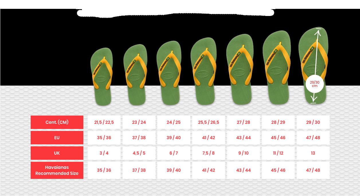 Flipflop Size Guide